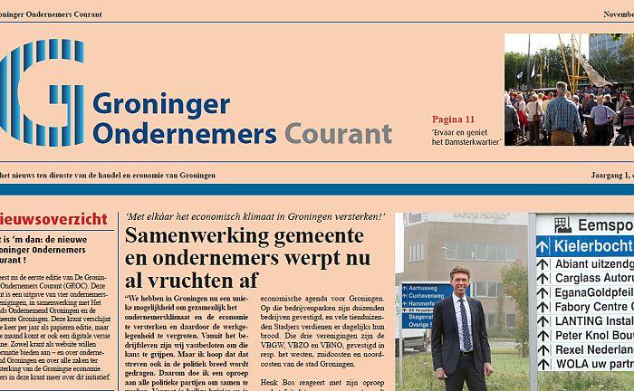 * Alles over het Convenant Ondernemend Groningen * Martiniplaza in het teken van de Promotiedagen * VBNO, VBZO en gemeente presenteren zich op zakenbeurs *