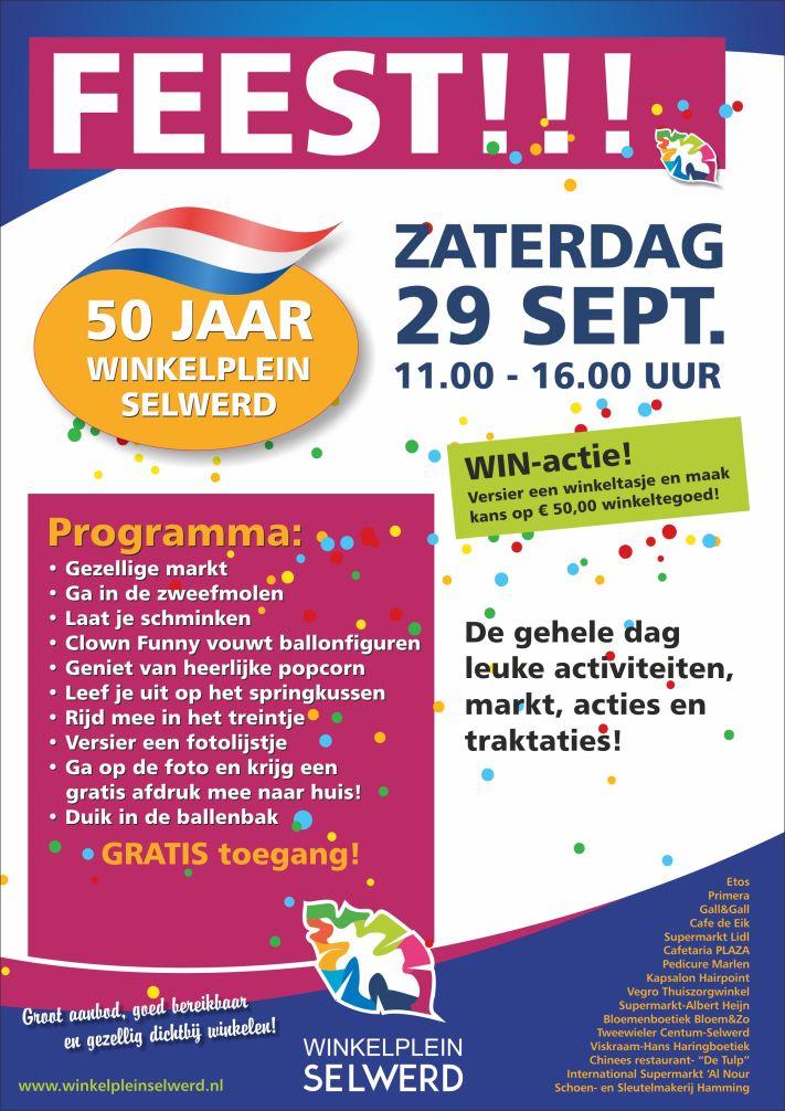 vegro 50 jaar Winkelplein Selwerd 50 jaar: feest op zaterdag 29 september › GROC  vegro 50 jaar